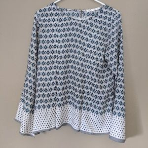 Violet+Claire Blouse BoHo pleated Flare Size M